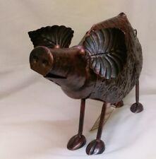 METAL PIG GARDEN ORNAMENT REDUCED