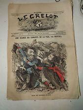 journal Le Grelot Numéro 27 du 15 /10/ 1871 ( Une séance du congrés ) Bertall