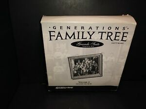 Generations Family Tree Software Grande Suite Version 8.0 Volume 2 PC CD 16-31