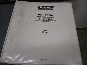Astec Trencor  Model T1360W Trencher Manual