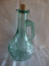 Canada Sage Green Oil / Vinegar Cruet With Embossed Fruit Basket Design