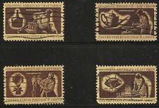 US Scott #1456-59, Singles 1972 Colonial American Craftsmen 8c FVF Used
