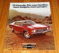 Original 1972 Chevrolet Chevelle Sales Brochure SS Heavy Chevy Malibu
