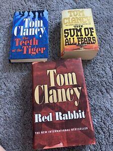 3x Tom Clancy Books