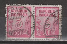 Indonesia 75 pair TOP CANCEL MEDAN Cijfer 1951 : NU VEEL MEER INDONESIE