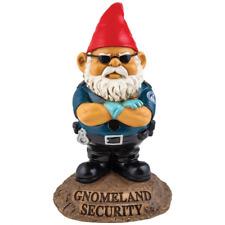 Gnomeland Security Garden Gnome Mini Home Patio Yard Lawn Statue Decor Sculpture