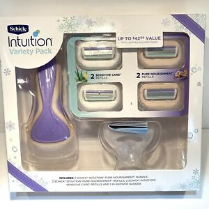 Women's Schick Intuition ~ 2 Nourishment & 2 Sensitive Care Razor Variety Pack