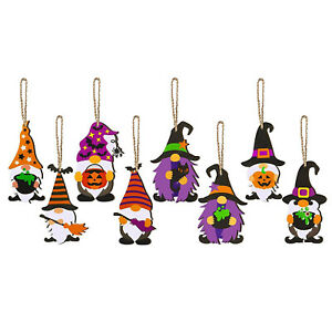 Halloween Table Tree Stand Bottle Party Supplies 8PCS Home Decor Hanging Doll