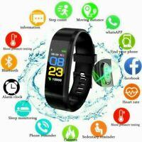 Smart Watch Bracelet Blood Pressure Heart Rate Monitor Fitness Activity Tracker