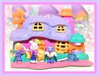 ❤️Polly Pocket Vtg 1994 Rabbit House COMPLETE Bluebird Animal Wonderland Dolls❤️