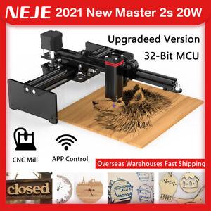 NEJE Master 2S 20W Laser Gravurmaschine Lasergravur Cutter Laser Engraver 32bit