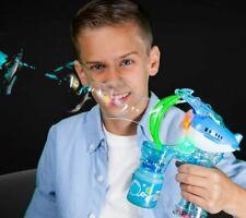 Light Up LED Airplane Bubble Gun Blows Medium Sized Bubbles