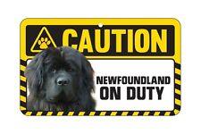 Dog Sign Caution Beware - Newfoundland