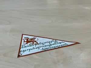 Genuine Vintage Vinyl Holiday Pennant Window Sticker - Llanfair... - Campervan