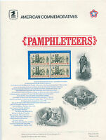 #1476 8c Pamphleteers USPS Cat. #10 Commemorative Stamp Panel