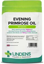 Evening Primrose Oil 1000mg Capsules (Cold Pressed Oil)(90 pack)  [Lindens 5149]