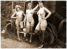 Vintage 125 1920's Erotic Female Nude Sepia Retro Art PHOTO REPRINT A4 A3 or A2