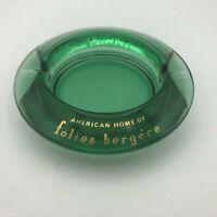 Vtg Tropicana Hotel Las Vegas Folies Bergere Green Glass Ashtray Mid Century E7