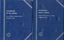 "Whitman Obsolete ""Canadian Fifty Cent"" Coin Folder 9070 & 9071 New Condition"