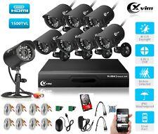 XVIM 8CH DVR 1080P Home Security Camera System Outdoor Surveillance CCTV kit 1TB