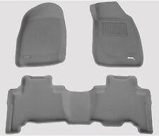 To Suit ISUZU D Max Dual Cab 2008 - 4/2012 GREY 3D Rubber Car Floor Mats
