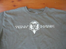 Vintage Distressed LOOKING TONY HAWK T-Shirt Medium M Olive green