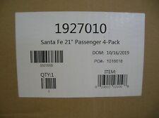 LIONEL 1927010 SANTA FE 21' PASSENGER CAR 4 PACK  - MAKE OFFERS
