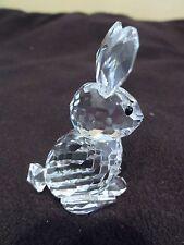 Swarovski Crystal Rabbit Sitting - Beautiful - Retired