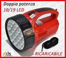 lampada torcia a led ricaricabile potente portatile emergenza potentissima luce