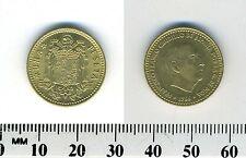 Spain 1966 (1974) - 1 Peseta Aluminum-Bronze Coin - Francisco Franco, caudillo