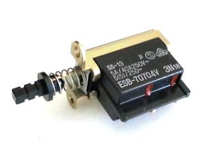 5x Matsushita Push Button Latching Power Switch, 5A 250V AC - Push On / Off -NOS