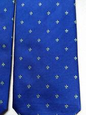 Cravatta seta blu con gigli verdi A & D TIES Milano | Dark Blue Tie