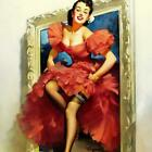"""24x30 1960/'s Elvgren Pin-Up Girl Rainy Day Poster /""""Ready For The Rain/"""""""