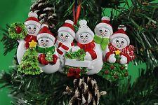 Personalizado De Árbol De Navidad Decoración Ornamento de la familia de nieve de 6