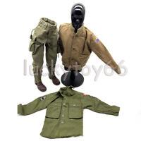 1:6 DIY DML WWII U.S.Military Shirt Jacket Coat Pants Ranger Combat Boots Suit