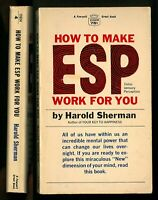 60s Harold Sherman HOW TO MAKE ESP WORK FOR YOU Fawcett Crest Mass Market PB