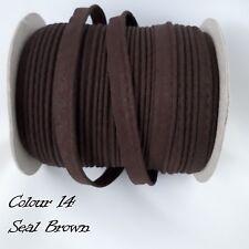 Sesgo de algodón marrón 10mm Cable de publicación de Cinta de Unión con bridas Cuerda Tubería 2 metros