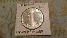 Netherlands 2002 silver 10 euro Maxima & Alexander coin