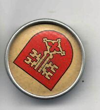 Vintage  pin COAT of ARMS pinback button Stoba Mini  Miniature badge