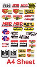 Sticker Custom Vinyl Bumper Muscle Car Brand Drag MSD Hurst Autometer B&D