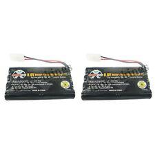 2x 9.6v 2400mAh Ni-cd Tamiya Connector Rechargeable Battery Pack