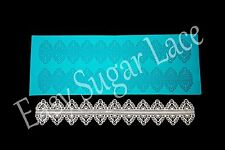 Silicone MARQUISE CAKE SUGAR LACE Mat / Mold Edible Lace (2 Rows) FREE Shipping