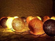 Guirlande lumineuse, 3 mètres 20 grand boules de coton, 3 cm, travail manuel