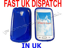 For Samsung Galaxy S Duos GT S7562 S7560 Pattern Gel Case Protector Cover Blue