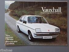 R&L Sales Brochure: Vauxhall Range 1979, Carlton/Cavalier/Chevette/Royale