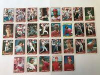 1989 CINCINNATI REDS Topps COMPLETE Baseball Team SET 29 Cards DAVIS LARKIN ROSE