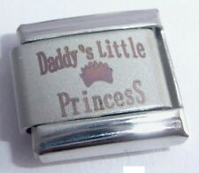 DADDY'S LITTLE PRINCESS Italian Charm 9mm Classic Size - I Love my Daughter Girl