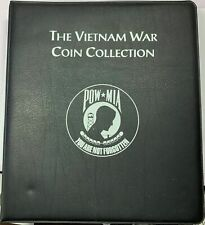 The Vietnam War Coin Collection POW MIA Album with 98 Colorized Kennedy Halves