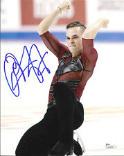 ADAM RIPPON SIGNED 8X10 PHOTO A JSA 2018 OLYMPICS FIGURE SKATING PYEONGCHANG USA