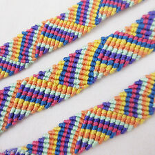 NEW Unisex Women FRIENDSHIP BAND BANDS Multi COLOR Thread Yarn BRACELET HANDMADE
